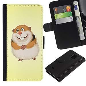 UNIQCASE - Samsung Galaxy S5 Mini, SM-G800, NOT S5 REGULAR! - Cute Funny Guinea Pi - Cuero PU Delgado caso cubierta Shell Armor Funda Case Cover