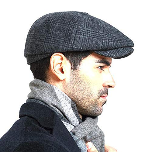 Men s Newsboy Gatsby Hat Vintage Beret Flat Ivy Cabbie Driving Hunting Cap  for Boyfriend Gift 9269dc99b3ff