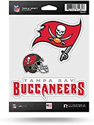 NFL Tampa Bay Buccaneers Die Cut 3-Piece Triple Spirit Sticker Sheet