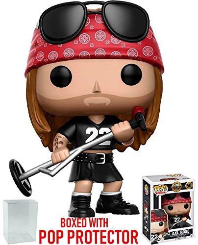 Roses Rose Pop - Funko Pop! Rocks: Guns N' Roses - Axl Rose Vinyl Figure (Bundled with Pop Box Protector Case)