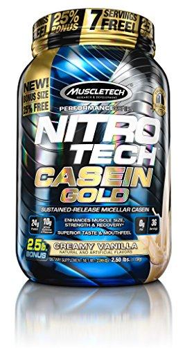MuscleTech Nitro Tech Casein Gold 100% Protein Powder Van...