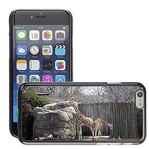 "Just Phone Cover Etui Housse Coque de Protection Cover Rigide pour // M00138522 Jirafas Permanente Zoológico de Vida // Apple iPhone 6 6S 6G PLUS 5.5"""