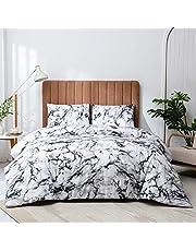 Argstar Marble, Plaid Comforter Set, Reversible Down Alternative Bedding Comforter, Soft Microfiber Geometric Abstract Duvet, 2 PCS Twin, 3 PCS Queen, 3 PCS King