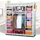 Generic New Super Large Reinforced Portable Folding Bedroom Furniture Wardrobe Closet