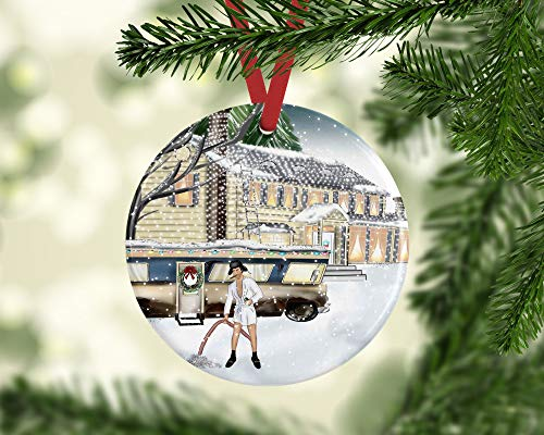 Dozili Cousin Eddie Christmas Vacation Ornament Griswold Family Clark Griswold Eddies Rv Funny Christmas Ornament Dirty Santa Gift