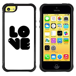 "Hypernova Defender Series TPU protection Cas Case Coque pour Apple iPhone 5C [Amor negro""]"