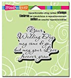 STAMPENDOUS CRV305 Cling Your Wedding Rubber Stamp