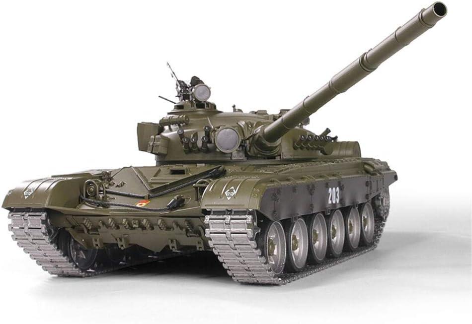 1:16 RC Tank Russian T72 R/éservoir de t/él/écommande V6.0 USB Charging Gift for Children Kids Girls Boys Rosvola R/éservoir de t/él/écommande