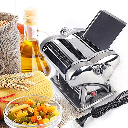 YIYIBYUS Electric Non-stick Pasta Maker Machine Dough Roller Noodle Cutting Machine Adjustable Thickness 6-Speed Pasta Maker with 2 Blades Home Kitchen 110V 135W