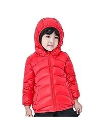 Bmeigo Unisex Children Winter Coat Ski Suit Hooded Light Packable Down Jacket
