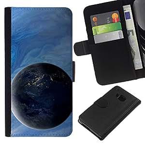 All Phone Most Case / Oferta Especial Cáscara Funda de cuero Monedero Cubierta de proteccion Caso / Wallet Case for HTC One M7 // Space Planet Galaxy Stars 4