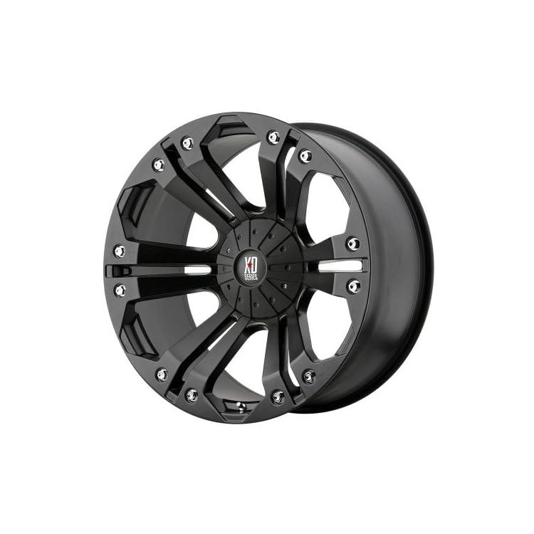 XD Series by KMC Wheels XD778 Monster Matte Black Wheel (18×9″/5×139.7mm, +18mm offset)