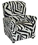 zebra decor for kitchen - Brazil Furniture 400-zebra Children's Button Back Recliner, Zebra