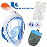ME MARTIAN ELITE Tribord/Subea Easybreath (2019 Version) Full Face Snorkel Mask with Camera Mount or Waterproof earplug, Enhanced Anti-Fog and Anti-Leak