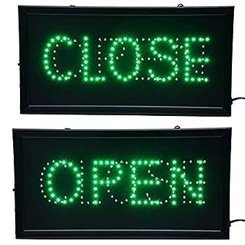 Amazon.com: Chenxi Open & cerrado 2 en 1 LED Sign Store neón ...