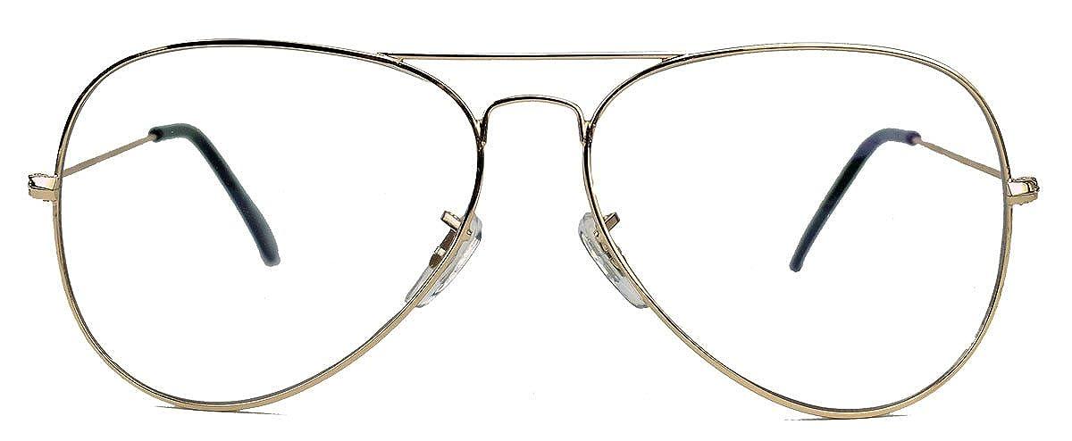 Old School Pilotenbrille für Damen o Herren Nerdbrille 80er Jahre Brillengestell Klarglas AVN AVR