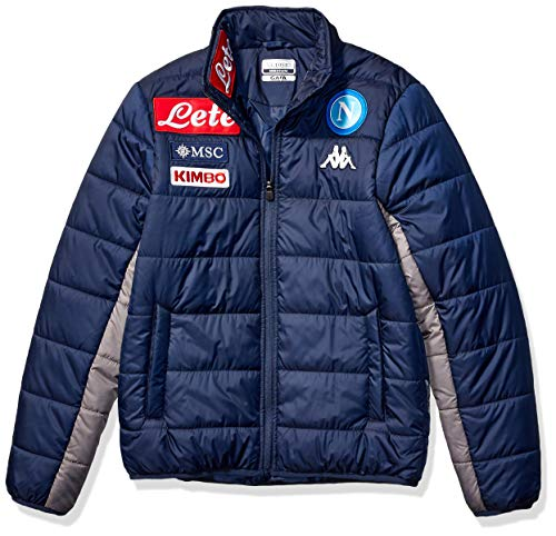 Ssc Napoli Italian Serie A Men's Quilted Jacket, Blue, XL (Napoli Soccer Shirt)