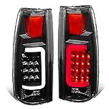 DNA Motoring TL-C10-LED-3D-BK-CL Tail Brake Lights, Driver and Passenger Side