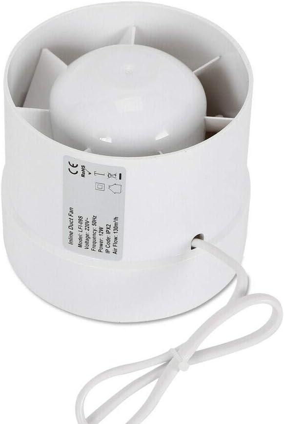 125mm Rohrventilator Rohrl/üfter Kanall/üfter Abluftventilator L/üftung Ventilator f/ür Bad K/üche