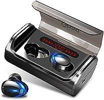 【版 業界最先端 Bluetooth5.1 】 Bluetooth イヤホン ワイヤレスイヤホン スポーツ仕様 LED残量表示 両耳 マイク内蔵 自動ペアリング 瞬時接続 ハンズフリー 通話 左右分離型 IPX7防水...