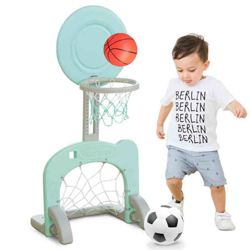 Soporte de Baloncesto para niños Compartimiento de Juguete para Interiores Kindergarten Outdoor Cuadro de Baloncesto Lifting Football Frame Aire Libre y Deportes