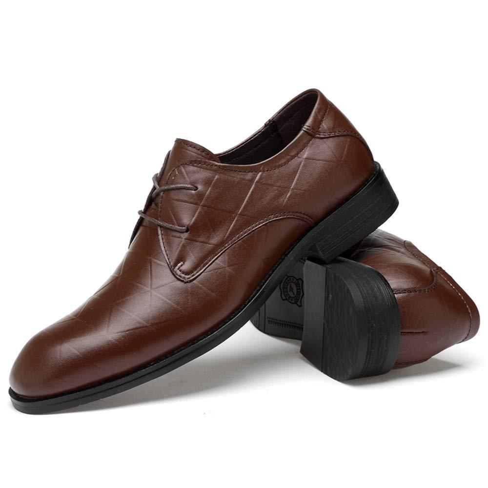 Fang schuhe, 2018 Herren Business Oxford Schuhe, Casual Classic Classic Classic Rostfrei Metall Schnalle Bequem Cover Füße Formale Schuhe (Spitze Schuh Optional) (Farbe : Schwarz, Größe : 46 EU) Braun Tie b948aa