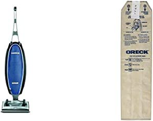 Oreck Magnesium RS Swivel-Steering Bagged Upright Vacuum Cleaner, with Extra HEPA Filter Bags, Lightweight, Blue, LW1500RS
