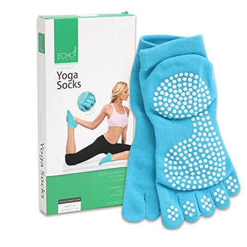 1 Pair Yoga Socks Non Slip Skid Grip Sports Dance Fitness Pilates Barre Full Toe