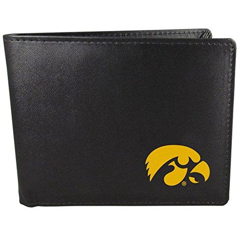 Siskiyou NCAA Iowa Hawkeyes Bi-Fold Wallet, Black ()