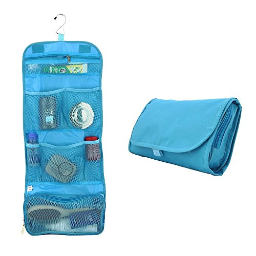 Happy Hours - Multifunction Foldable Hanging Toiletry Bag Cosmetic Organizer Storage / Portable Waterproof Wash Pouch Makeup Case with Hook for Camping, Travel, - St Premium Outlets Louis