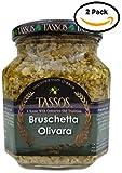 2 Pack Tassos Bruschetta Olivara Spread (12.36 oz)
