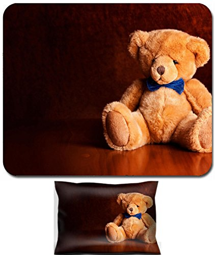Liili Mouse Wrist Rest and Small Mousepad Set, 2pc Wrist Support Close up photograph of a cute little teddy bear Photo (Cute Teddy Pictures)