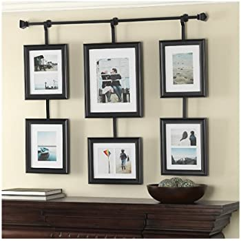 wall solutions rod and frame set - White Picture Frame Set