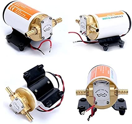 Marine//Automotive White 12V Self-priming Scavenge Oil Pump for Transfer Diesel
