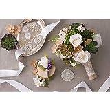 Bulk Buy: Darice DIY Crafts David Tutera Burlap and Lace Bouquet Wrap (3-Pack) DT732BW