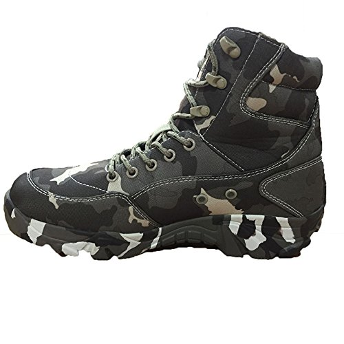 LiliChan Men's Lightweight Waterproof and Non-slip Outdoors Hiking Camouflage Military Boots