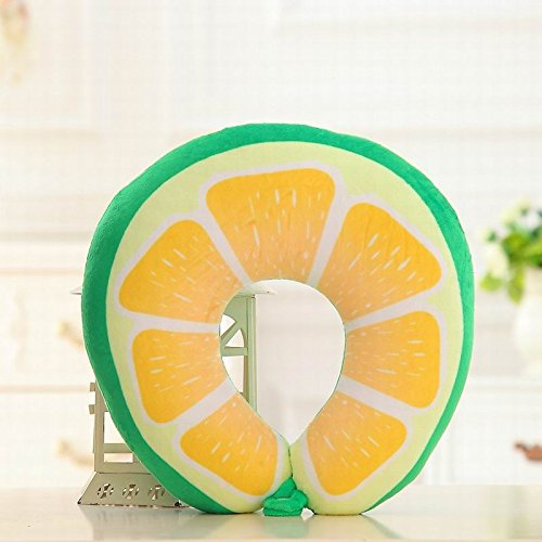 Wall of Dragon Neck Protection U Shaped Pillow Watermelon Lemon Kiwi Orange Fruit Pillows Nanoparticles Massage Neck Pillow Car Travel Cushion by Wall of Dragon