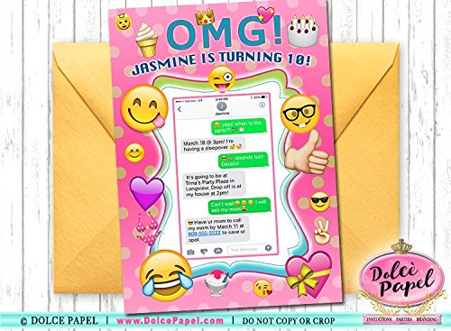 Amazon 10 OMG IKR Emoji Faces Text Theme Party Birthday
