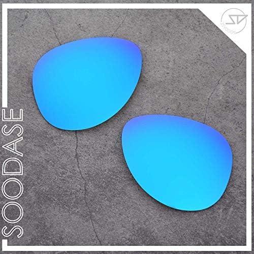 SOODASE Pour Oakley Elmont Middle Des lunettes de soleil Bleu/Noir/Argenté/Vert Verres de remplacement polarisés