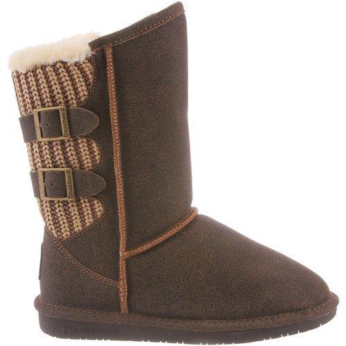 BEARPAW Women's Boshie Winter Boot, Chestnut/Distressed, 9 M US from BEARPAW