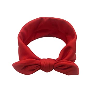 f1253816df7 Cute Baby Hairband Kids Girls Rabbit Bow Ear Headband Turban Knot Head  Wraps Head Band Accessories