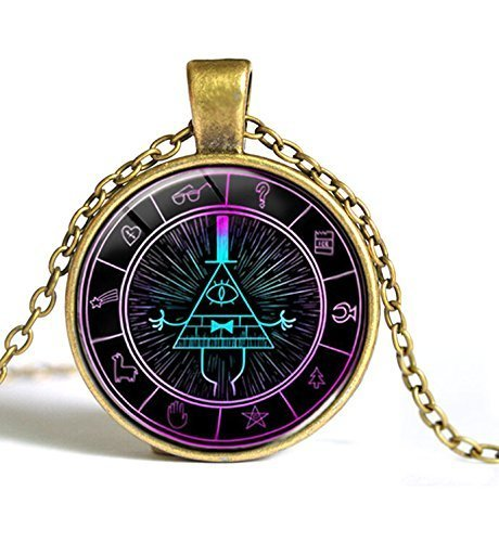 Drama Gravity Falls Light Mysteries BILL CIPHER WHEEL Steampunk Pendant Necklace Fashion Jewelry NECKLACE