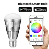 app lamp - Flux Bluetooth LED Smart Bulb - Wireless Multi Color Changing Light For Kitchen, Bedroom- App Controlled Sunrise Wake Up Light - Sunset Sleeping Light - Dimmable Colorful Night Light - No Hub Required