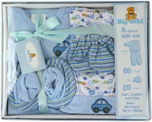 Big Oshi Unisex-baby Layette 5 Piece Gift Set