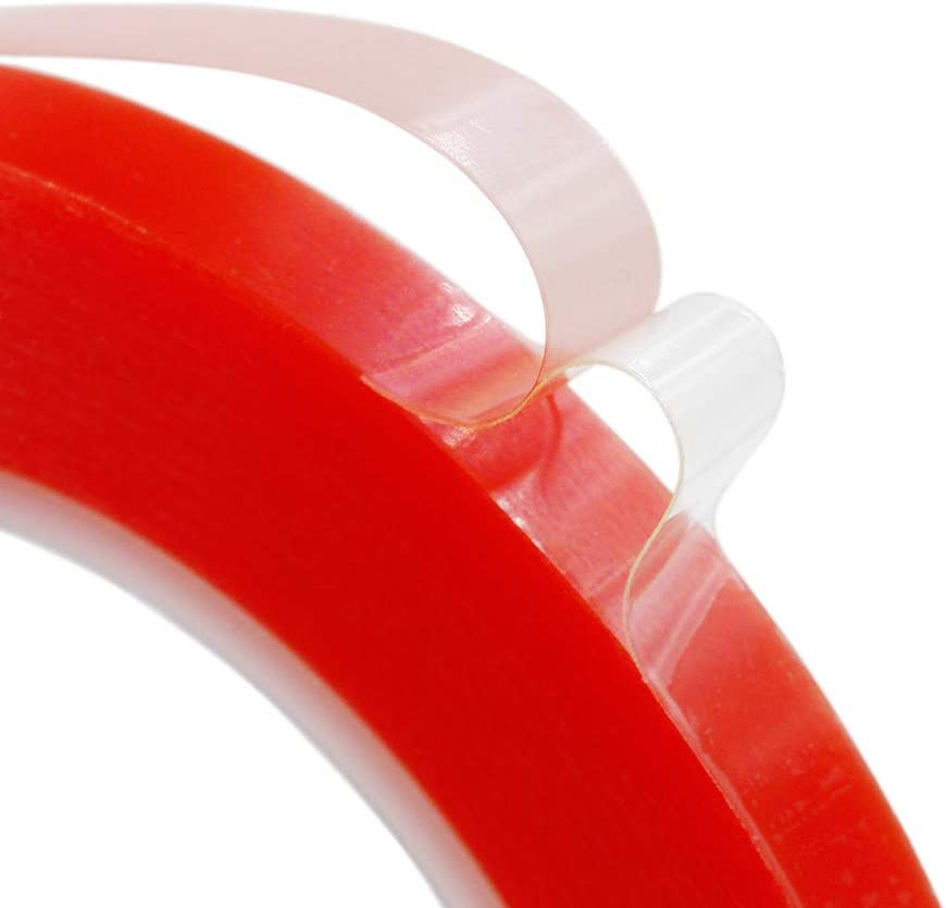 8mm x 25M Clear Double Sided Strong Adhesive Tape for Mobile Phone Laptop Camera LCD Screen Repair Transparent