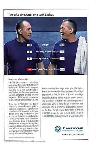 Print Ad 2003 Lipitor Atorvastatin Calcium Tablets For Cholessterol