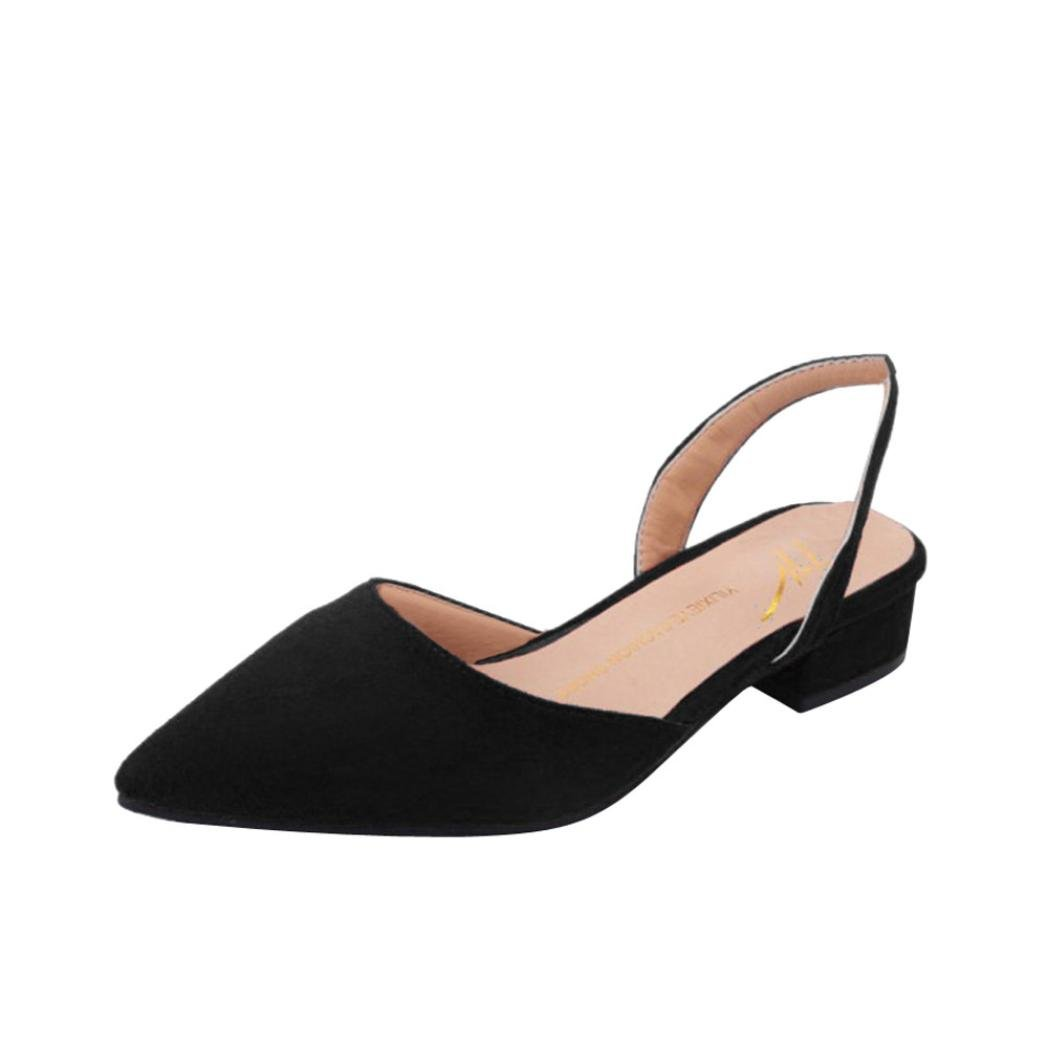 Women Pumps Toe Mid Heels Ankle Strap Thick Heel Pointed Comfortable Shoes by Limsea