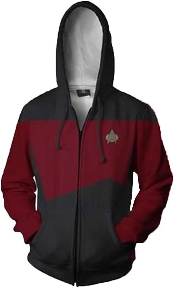 cosdream Star Trek Zipper 3D Printed Sweatshirt Costume Men Hoodie Jacket