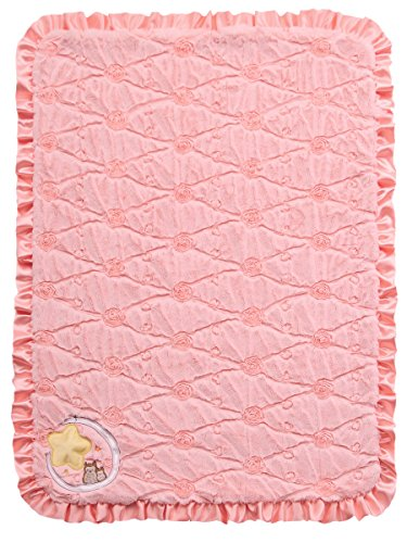 Twinkles of Joy Light Up and Musical Girls Receiving Baby Blanket, Pink Owl on the Moon by Twinkles of Joy