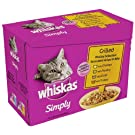 Whiskas Simply Grilled Poultry in Jelly 12 x 85 g (Pack of 4, Total 48 Pouches)